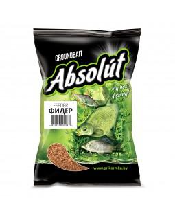 Прикормка Absolut Фидер FEEDER (коричневая) 0.75 кг