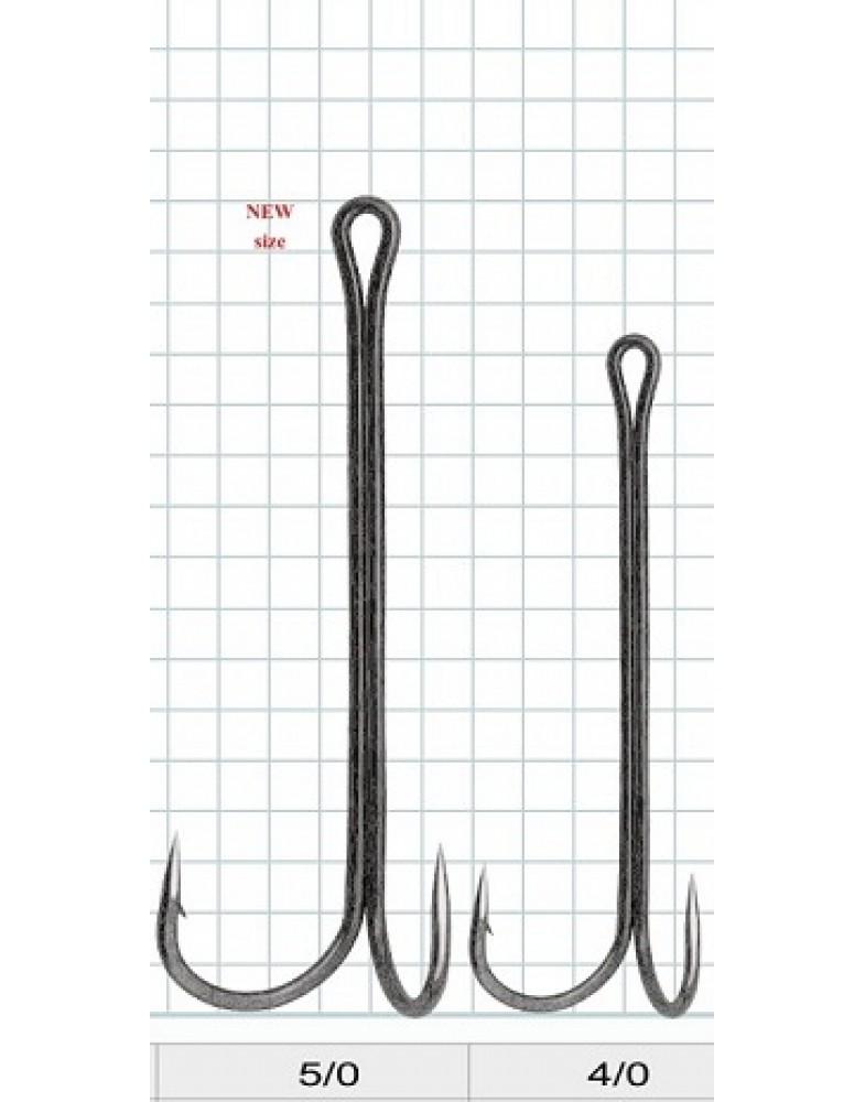 """Двойной крючок """"Vido craft"""" Double Long 1+ (VD-084) 4/0, 5/0"""