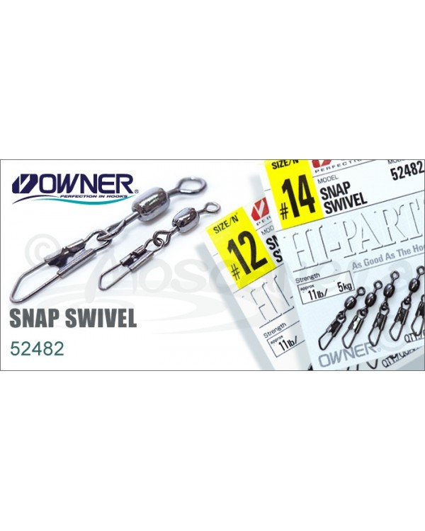 Вертлюг с карабином Owner Snap Swivel 52482 №18