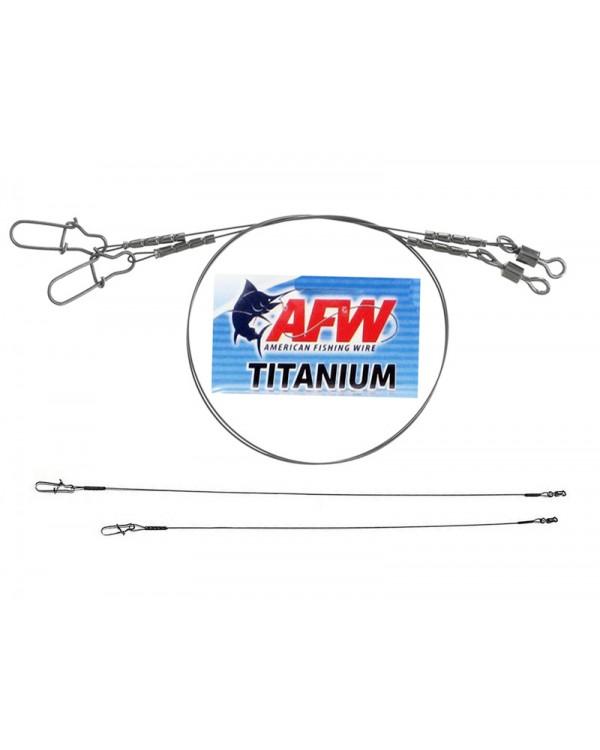 """Титановый поводок """"AFW"""" Titanium оснащённые вертлюгом и застёжкой (2 шт.)"""