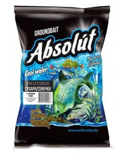 """Прикормка """"Absolut"""" Сухари - семечки для холодной воды (0.75 кг)"""