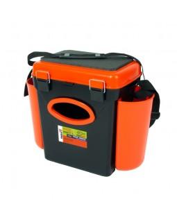 Ящик зимний рыболовный односекционный Helios «FishBox» 10 л. Оранжевый